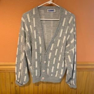Vintage 80s Geometric Cardigan Sweater